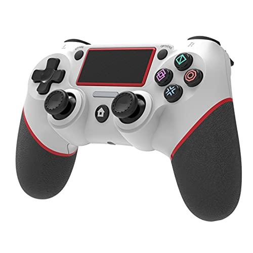 Jiudong Wireless Gamepad- Bluetooth Wireless Game Controller für Playstation 4 Spiel Konsole Vibration Wireless Joystick Gebaut-In 6-Achse Gyro Licht Zeigt Spiel Status (Weiß)