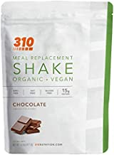 Vegan Organic Plant Protein Powder and Meal Replacement Shake - By 310 Nutrition - Gluten, Dairy and Soy Free - 0g of Sugar   Keto and Paleo Friendly… (Chocolate, 14 Servings)