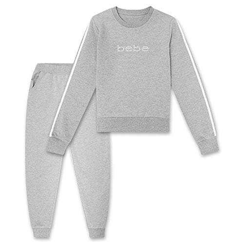 Womens Hoodie and Pant Sweatsuit Set - Sweaters Joggers for Women Cute French Terry Heather Grey Medium