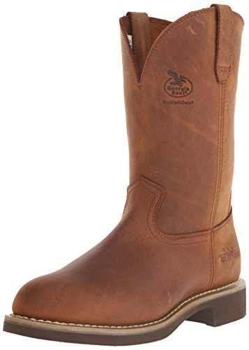 Georgia Men's Carbo Tec-M Farm and Ranch, Prairie Chestnut, 10 D US