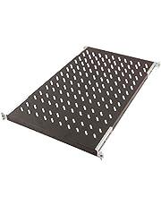 DIGITUS Professional DN-19 TRAY1-1000-ECB - plank met variabele diepte voor vaste inbouw in kasten van 19 inch - draagvermogen 50 kg - vanaf 1000 mm kastdiepte - 1HE - kleur zwart