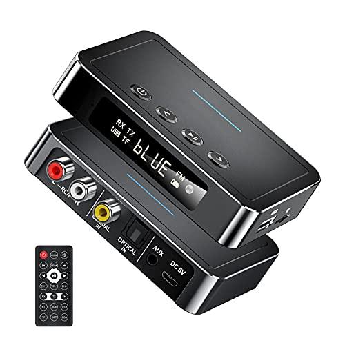 Adaptador Bluetooth 5.0 MIT AUX 3.5 mM RCA, receptor de audio RCA 3.5mm Adaptador inalámbrico Für Auto