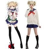 MrsJasmine Anime My Hero Hero Academia Himiko Toga Disfraz de Cosplay Completo de Ropa, Disfraces de Anime Halloween Carnival Uniforme con Zapatos, Calcetines, Pelucas y Accesorios