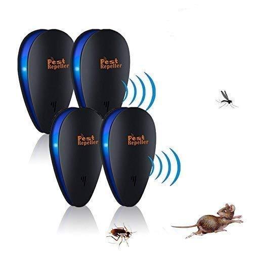 Janolia Ultraschall Schädlingsbekämpfer 4 pcs, Neuester Indoor Plug in elektronischer Schädlingsbekämpfer für Insekten Ameisenfliegenhahn Mückenspinne Plötze, Best Repellent für Kinder und Haustiere