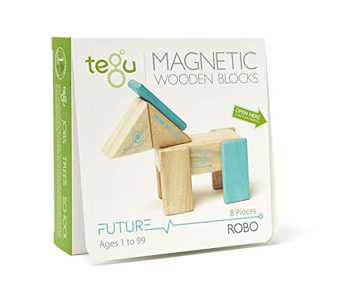 Tegu Robo Magnetic Wooden Block Set
