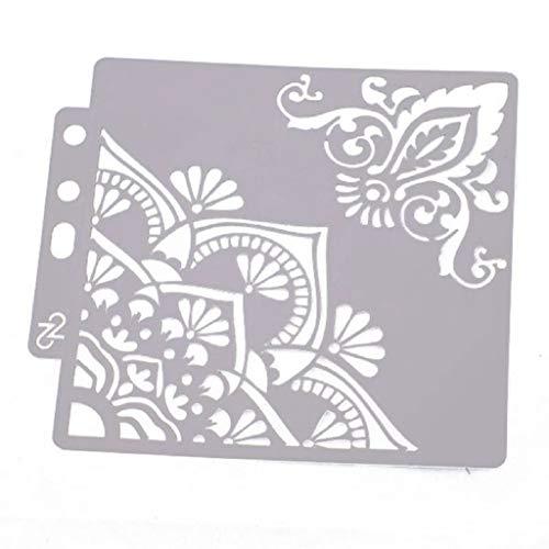 Hothap Plantillas Flores 14 x 13 cm para Pintura Aprendizaje decoración de Pared DIY