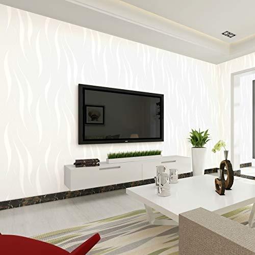 kengbi Moderne minimalistische geprägte Tapetenrolle Vliestapete selbstklebend Einfache Solid Color 3D Wallpaper Self-Adhesive Europäische Refurbished Schlafzimmer Wohnzimmer-Wand