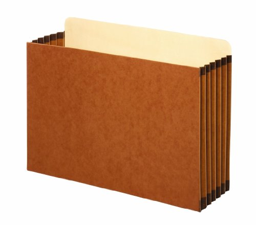 Globe-Weis/Pendaflex Redrope File Cabinet Pockets, 5.25 Inch Expansion, Legal Size, 10 Pockets Per Box, Brown (FC1536G)