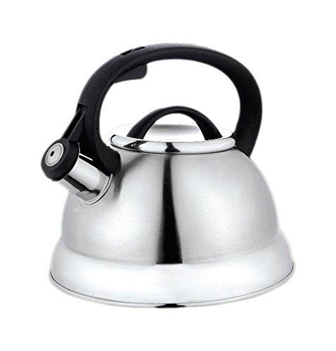 Kinghoff 3774 - Caldera silbadora para estufa (2,2 L, con relación de relleno)