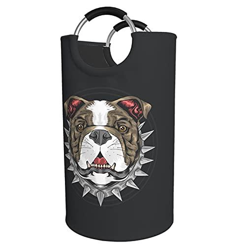 Sunmuchen Cesta de lavandería Bull Dog, impermeable, grande, organizador para ropa, juguetes, dormitorio, baño, con asas de aluminio