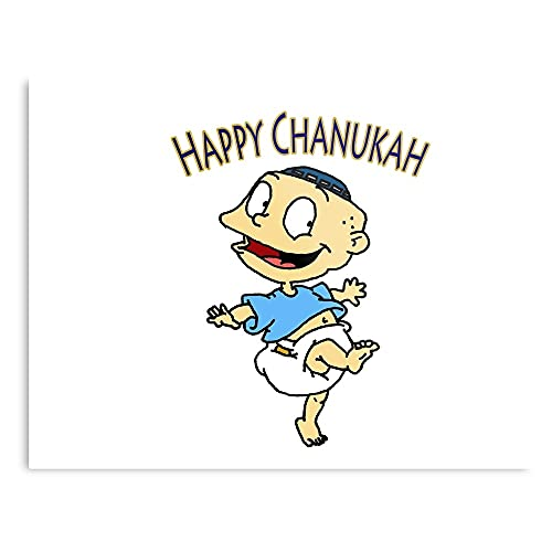 Holidays Rugrats Pickles Season Holiday Hanukkah Chanukah Celebrate Tommy 90S Hiphop 90s 80s 70s - Wall Art Print Poster Home Decor Premium I Customize