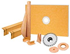 KSK9651525PVC Contains all of the waterproofing components, including the shower tray and shower curb, required to create a maintenance-free, watertight shower assembly without a mortar bed Drain grate sold separately