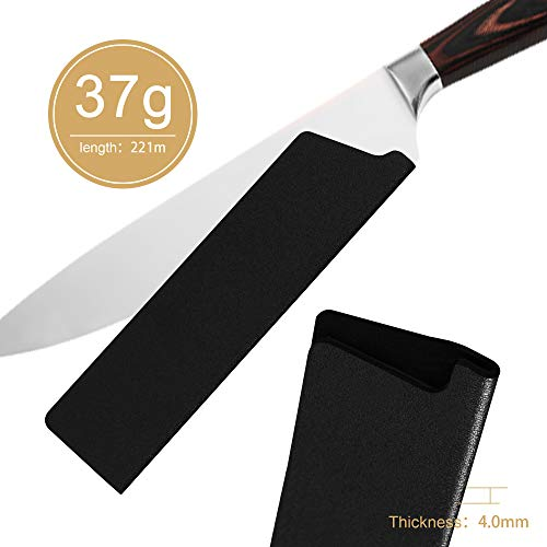 XYJ 3 Pcs ABS Universal Knife Edge Guards Set for 8 inch Chef Knife Kitchen Knife Sheath Knife Sleeve Knife Cover Knife Case Blade Protectors for Japanese Style Chef Knife(Knives Not Included)
