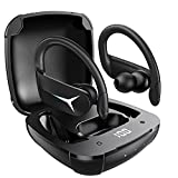 BluetoothKopfhörer Sport AOVOCE KabellosKopfhörerInEar Bluetooth 5.1 kopfhörer kabellos 36H IPX7 mit Mikrofon & Auto pairing Touch Control HiFi Ohrhörer Stereo LED Anzeige für iPhone & Android
