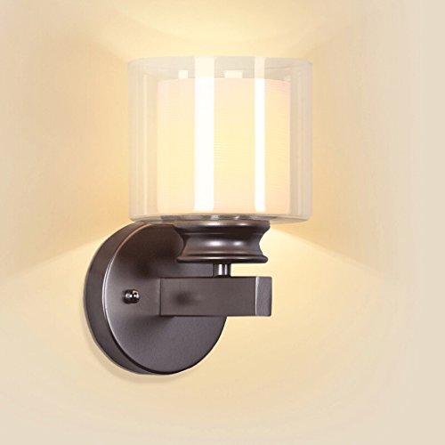 Lampe murale à LED moderne lampe murale en verre transparent chambre salon éclairage intérieur E27 lampe lumière blanche chaude