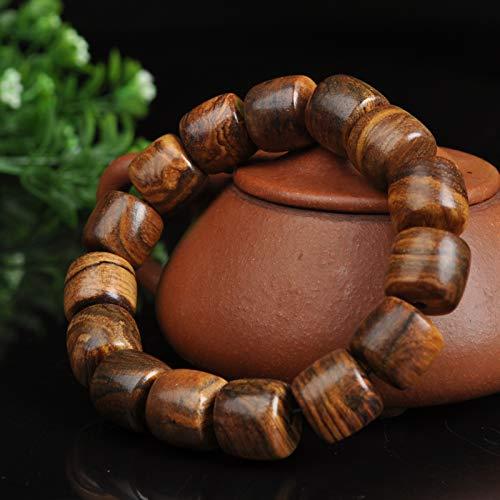 Hand String Bloem Qinan Barrel Kralen Originele Houten Kralen Houten Boeddha Parel Vrouwelijke Stijl Single-Ring Houten Armband Sandelhout