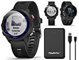 Garmin Forerunner 245 Music (Black) GPS Running Watch Power Bundle | with PlayBetter Portable Charger & HD Screen Protectors | Spotify, Training Status, Heart Rate | Running Smartwatch | 010-02120-20