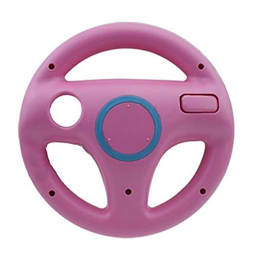 Contrôleur PS3 Volant de Course Jeu de Volant for Wii Remote Controller Jeu Caractère 5 (Color : WII111 Pink)