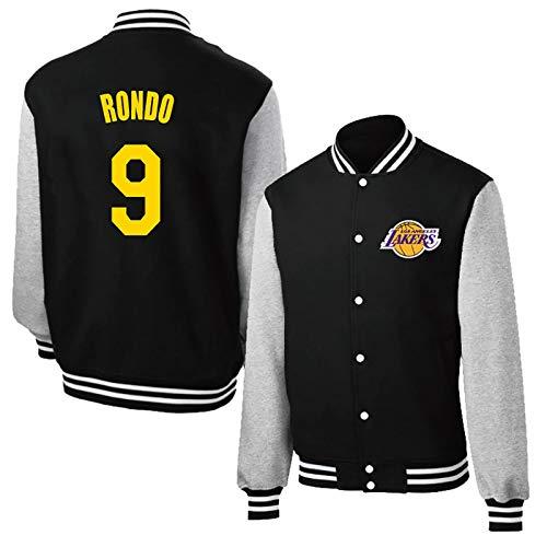 Lakers No.9 Rondo Chaqueta de Jersey de Entrenamiento Mcgee # 7 Chaqueta Informal para Mujer, Tejido de algodón Transpirable XL Black9