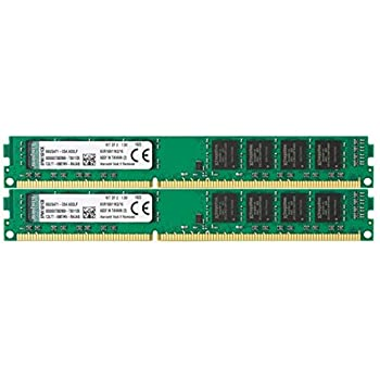 Kingston Technology 16GB Non-ECC CL11 DIMM 1600MHz DDR3 RAM  KVR16N11K2/16  - Kit of 2