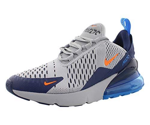 Nike Herren Air Max 270 (gs) Leichtathletikschuhe, Mehrfarbig (Wolf Grey/Total Orange/Midnight Navy 15), 38 EU