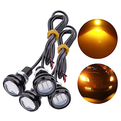 TABEN - 2 LED de 9 W - Lampe œil d'aigle - 23 mm - 5630 3SMD - Pour voiture - De brouillard - Feux de circulation diurnes, de recul de stationnement, de signalisation - Ampoule blanche - 12 V