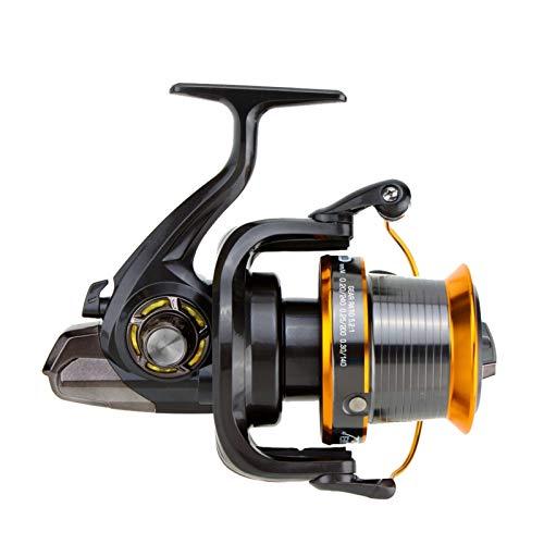Bait reel Reel de hilado de metal 12 +1BB Carpas de pesca de carpa Super Big Fishing Wheel de alta velocidad 4.11:1 Herramientas de pescado reel (Bearing Quantity : 13, Color : Brown)
