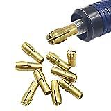 Iriisy 10PCS Portabrocas de latón Kit de brocas de mandril de taladro de latón vástago de 0.5-3.2mm para herramienta rotativa