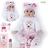 ZIYIUI DOLL 22 Pulgadas 55 cm Realista Reborn Babys Muñecas Chica Suave Juguetes de Silicona Realist...