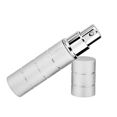 Vaporisateur Voyage Portable Rechargeable Vide Atomiseur de Parfum Flacon de Pulvérisation - Argent