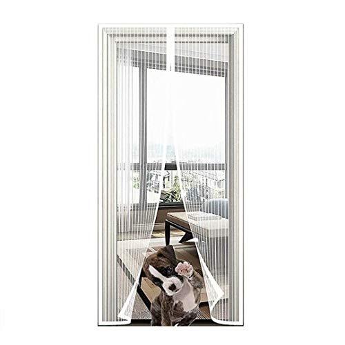 Mosquitera para puerta de balcón, protección contra insectos, cortina mosquitera sin taladrar, con cierre magnético, puerta sótano y terraza, montaje fácil adhesivo...