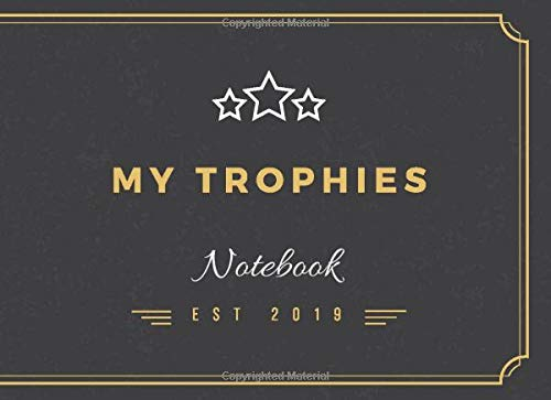 My Trophies: notebook - fisherman - hunter - men - tennis - golf - sport -