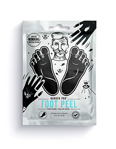 BARBER PRO Foot & Callus Peel For Hard Callus Skin With A Complex 16 Natural Plant Botanicals, Gradually Peels Away In 7 Days