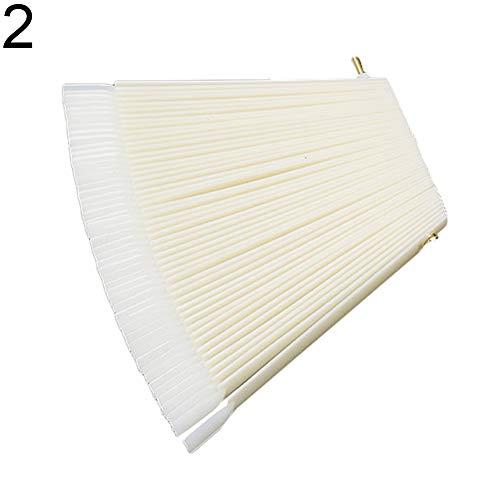 dontdo Lot de 50 bâtons de Vernis à Ongles en Plastique en Forme de Ventilateur pour Salon de Coiffure, Plastique, Naturel, 2