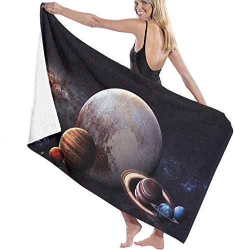 BAOYUAN0Toallas de Playa para Adultos y niños Pluto Planet Ball Toalla de baño de Alta absorbencia fácil Toalla de baño Grande para Playa, hogar, SPA, Piscina, Gimnasio, Viajes H382