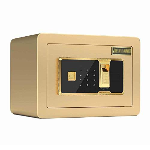 Caja fuerte, contraseña electrónica totalmente de acero, caja fuerte con contraseña de huellas dactilares, caja fuerte de metal segura para almacenar mercancías con gabinete seguro de anulación de eme