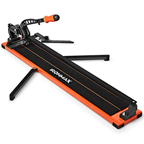 Goplus 36-Inch Manual Tile Cutter, Professional Tile Cutter with Tungsten Carbide Cutting Wheel, Anti-sliding Rubber Surface and Removable Scale, Suitable for Ceramic Floor, Ceiling Tiles