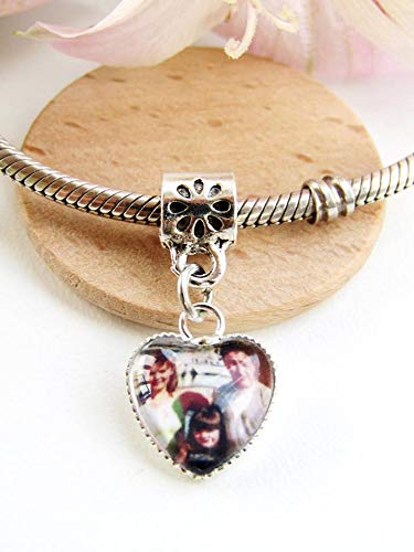 Photo Charm for Charm Bracelets. Personlaised Image Gift. Family Picture Custom Charm. Baby Scan, Memory Charm, Loved One Gift