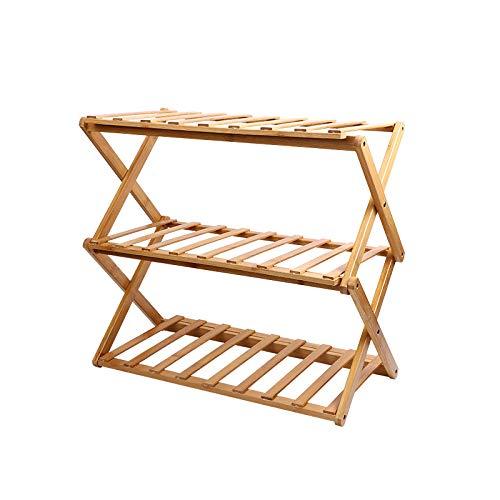 Generic Brands Zapatero de bambú, organizador de almacenamiento, ideal para pasillo, cuarto de baño, salón