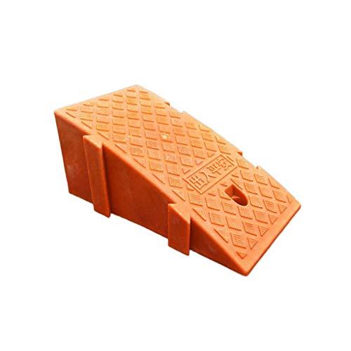 Xzg1-Ramp XUZgag - Rampas de seguridad portátil de plástico para uso en interiores y exteriores, rampas de umbral de altura: 16-19 cm, almohadilla de seguridad cuesta arriba, plástico, Naranja, 25*39*16CM