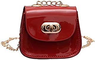 Adebie - Fashion Messenger Bags 2019 Summer New for Baby Girls Brand Designer Jelly Shoulder Bags Children Mini Cute Chain Saddle Bag Red []