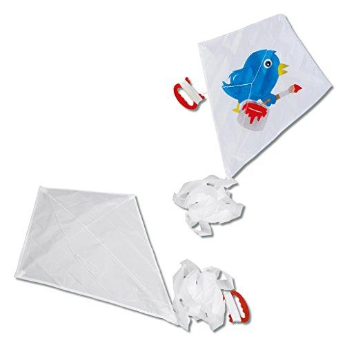 Wiemann Lehrmittel Drachen für Kinder, 50 x 37 cm, blanko, Herbstdrachen in weiß