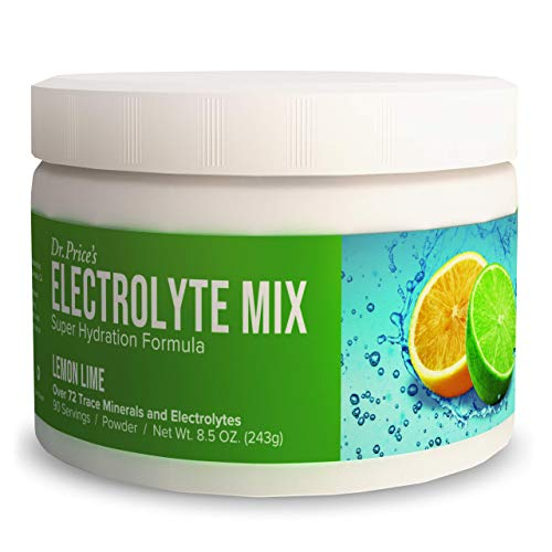 electrolyte replacements Electrolyte Mix Supplement Powder, 90 Servings, 72 Trace Minerals, Potassium, Sodium, Electrolyte Replacement Keto Drink | Lemon-Lime Flavor | Dr. Price's Vitamins, No Sugar, Vegan, Non-GMO