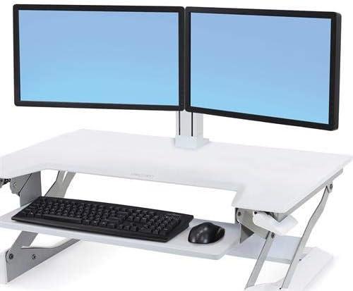 Ergotron 97-934-062 WorkFit Dual Monitor Kit Cart Upgrade Kit,White