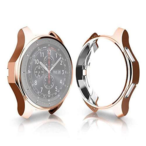 Liluyao Protector de Pantalla de Reloj Inteligente Carcasa de TPU chapada a Prueba de Golpes para Samsung Gear S3 Frontier Smartwatch 42mm (Color : Rose Gold)