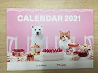 ソフトバンク社 お父さん犬 ふてにゃん 卓上カレンダー 2021年版