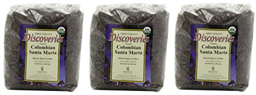 First Colony Organic Whole Bean Coffee, Colombian Santa Marta, 24-Ounce