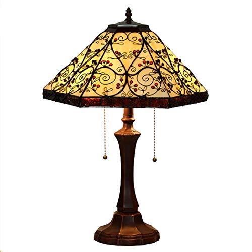 SPNEC Estilo Antiguo Vidriera Lámpara de Mesa Sombra Sala de Estar Dormitorio for niños Mesita de Noche