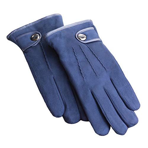 Guolinghui Guantes De Ciclismo A Prueba De Viento De Invierno Guantes De Conducción con Pantalla Táctil Hombres Guantes Cálidos para Deportes Al Aire Libre Guantes de Transpirables (Color : Azul)