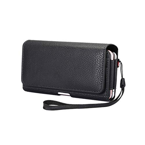 Dual Horizontal Belt Clip Holster 2 Cell Phone Pouch Case Holder for iPhone XR/X/Xs Max /8 Plus/Samsung Galaxy S9 S8 S10 Plus J7 A10 S7 Edge/LG G8 G7 ThinQ/Google Pixel 3a / HTC U11 /10 EVO